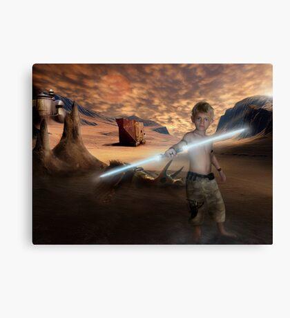 Padawan Training Tatooine Canvas Print