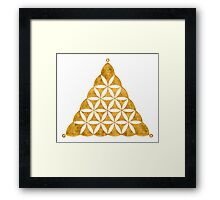 Flower Of Life, Sacred Geometry, Crop Circle, Triangle Framed Print