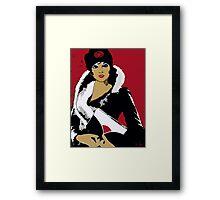 Flapper art: Femme Fatale C 1930 Premeditated Beauty #2 Framed Print
