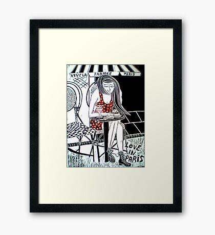 Love in Paris Framed Print
