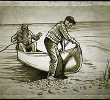 Canoe drawing by RobCrandall