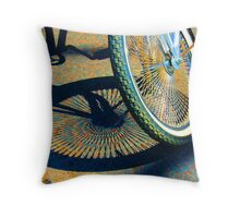 Hot Bike Throw Pillow