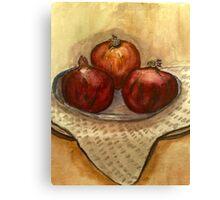 ripe pomegranate  Canvas Print