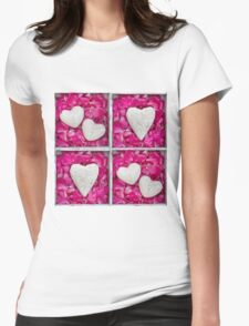 Hearts and Petal Womens Fitted T-Shirt