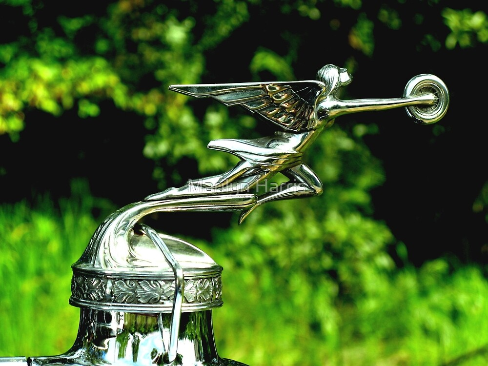"""1929 Packard Automobile Mascot """"Goddess of Speed"""" by Marilyn Harris"""