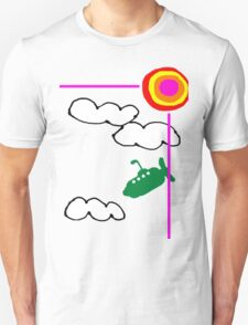 submarine in the sky Unisex T-Shirt
