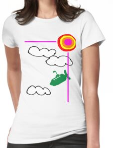 submarine in the sky Womens Fitted T-Shirt