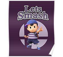 Ness - Super Smash Bros Poster