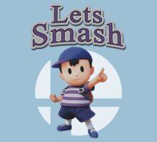 Ness - Super Smash Bros One Piece - Short Sleeve