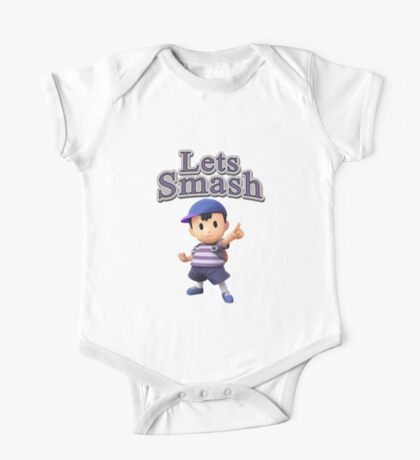 Ness - Super Smash Bros One Piece - Short Sleeve