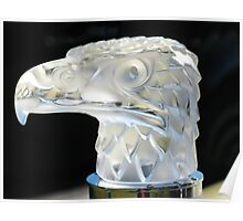 Eagles Head Hood Ornament from a 1934 Packard Poster