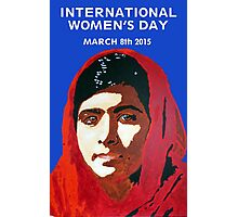 MALALA INTERNATIONAL WOMEN'S DAY Photographic Print
