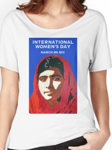 MALALA INTERNATIONAL WOMEN'S DAY Women's Relaxed Fit T-Shirt