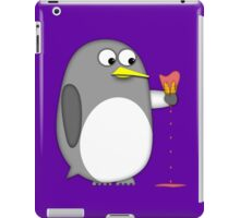 Penguin realizes the effects of global warming iPad Case/Skin