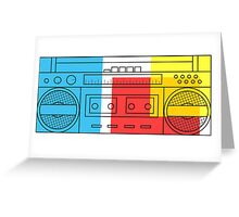 primary colour boombox Greeting Card