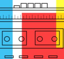 primary colour boombox Sticker