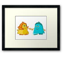 Puffball monsters :) Framed Print