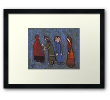 Four people Framed Print