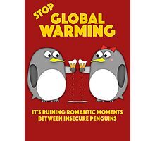 Global warming is ruining romantic moments Photographic Print