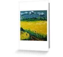 Yellow Canola Field Greeting Card