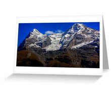 Eiger & Jungfrau  Greeting Card