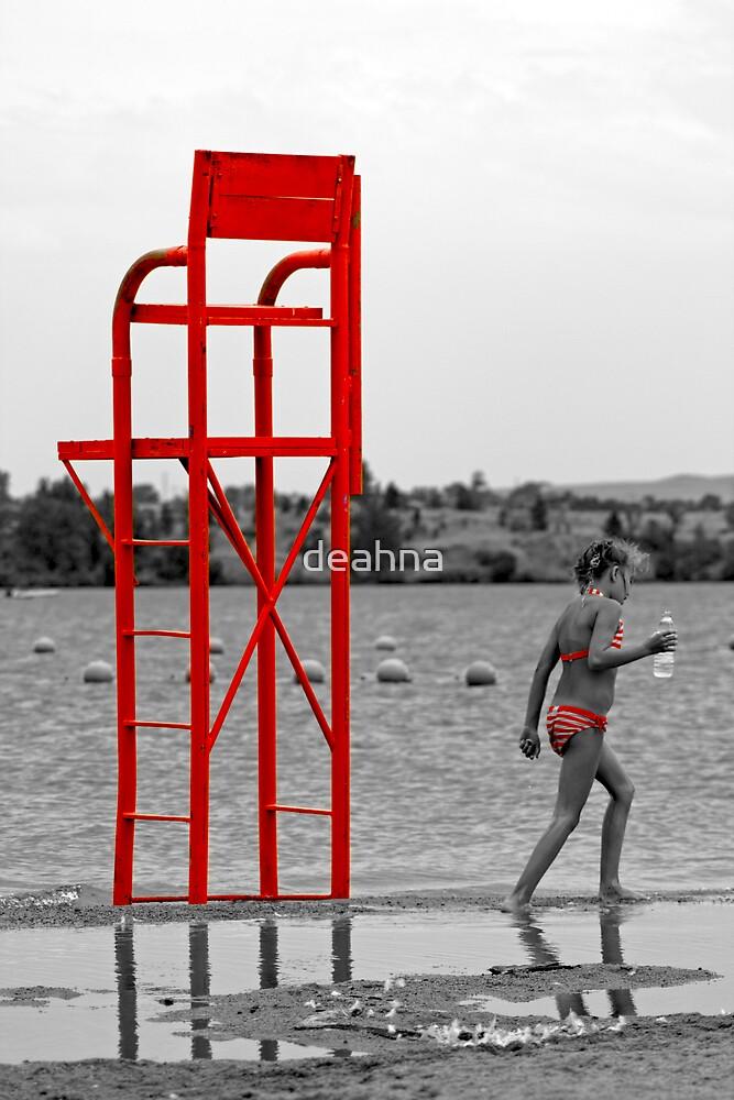 Little Red Striped Bikini by deahna