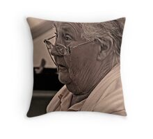 Womans Institute Steward in sepia Throw Pillow