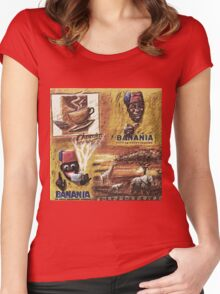 """Single ever seen """"Banania story"""" version 1: My Creations Artistic Sculpture Relief fact Main 19  (c)(h) by Olao-Olavia / Okaio Créations Women's Fitted Scoop T-Shirt"""