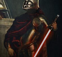 Darth Vader - Portrait (As a Knight) by ARTOFPEACH