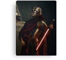 Darth Vader - Portrait (As a Knight) Canvas Print