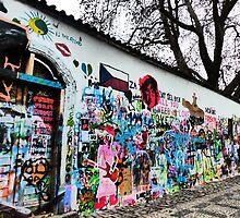Lennon Peace Wall by davidandmandy