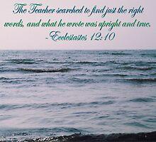 Ecclesiastes 12:10 by Valerie L