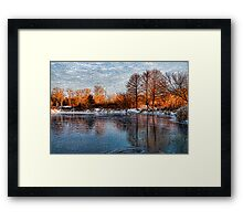 Cold Ice, Warm Light – Lake Ontario Impressions Framed Print