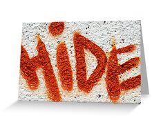 Hide the Graffiti! Greeting Card