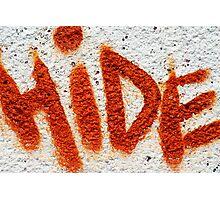 Hide the Graffiti! Photographic Print