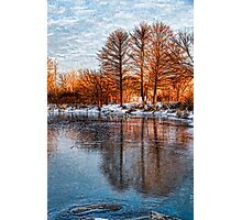 Cold Ice Trio - Lake Ontario Impressions Photographic Print