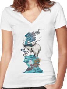 Seeking New Heights Women's Fitted V-Neck T-Shirt
