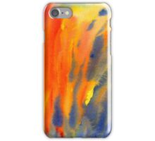 Abstract colorful watercolor painting with fire flames iPhone Case/Skin