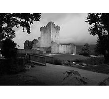 Ross castle in black and white Photographic Print