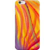 Abstract watercolor painting - Colorful flames iPhone Case/Skin