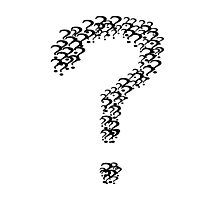 The Question Marks of Question Marks Photographic Print