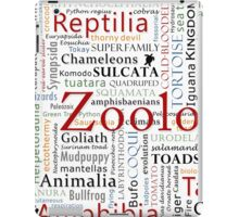 Herpetology in Taxonomy in Typography Cloud iPad Case/Skin