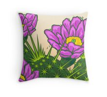 Hedgehog Blossoms Throw Pillow
