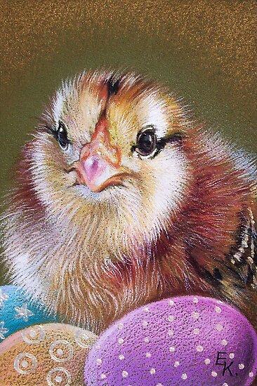 Easter chicken by Elena Kolotusha