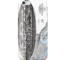 Vicksburg-Fortifications map-Mississippi-1863 iPhone Case/Skin