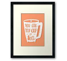 My cup of tea Framed Print