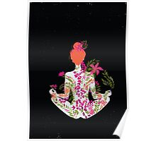 flower meditation in pink and purple Poster