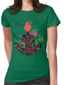 flower meditation in pink and purple Womens Fitted T-Shirt