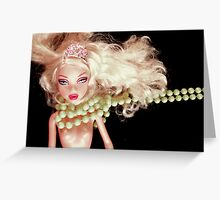 ROXY IN BEADS Greeting Card