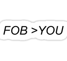 FOB>YOU Sticker